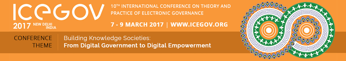 Register as volunteer for ICEGOV-2017 conference, 7-9 March 2017, New Delhi