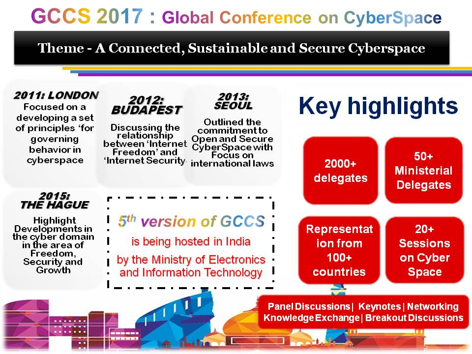 Request to share ideas on Global Conference on Cyber Space (GCCS) to be hosted in India