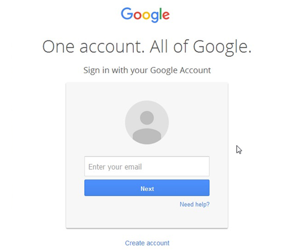 Login via Gmail